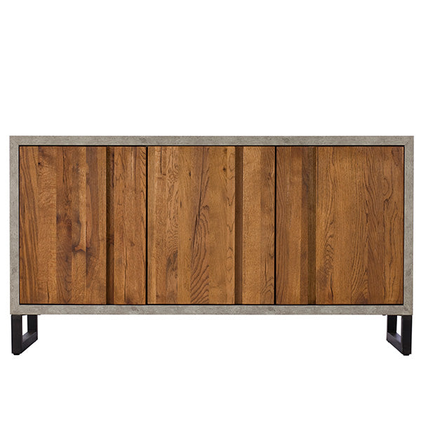 Mitcham Industrial Oak and Concrete Sideboard