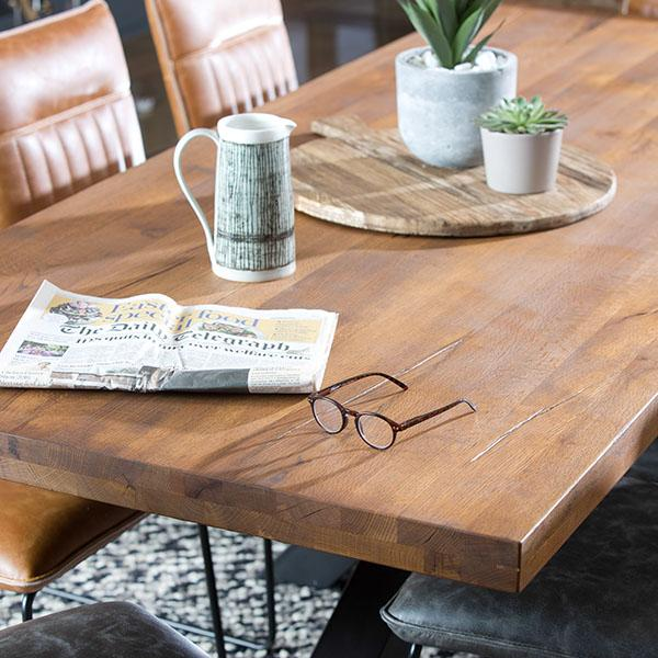 Mitcham Industrial Oak Dining Table Top