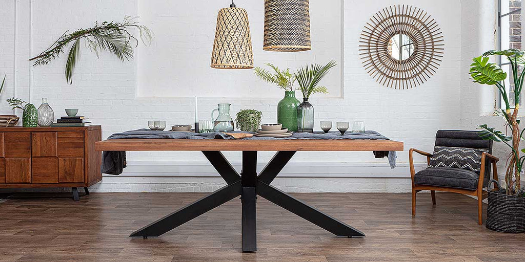 Mitcham Oak Industrial Dining Table