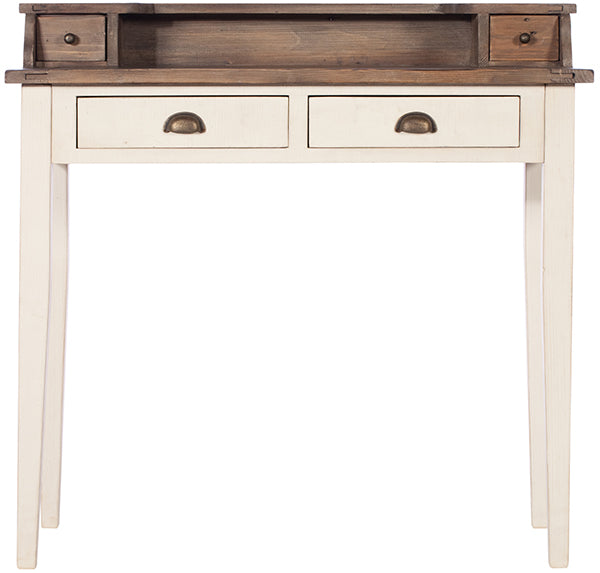 Worcester Reclaimed Wood Desk with a white painted finish