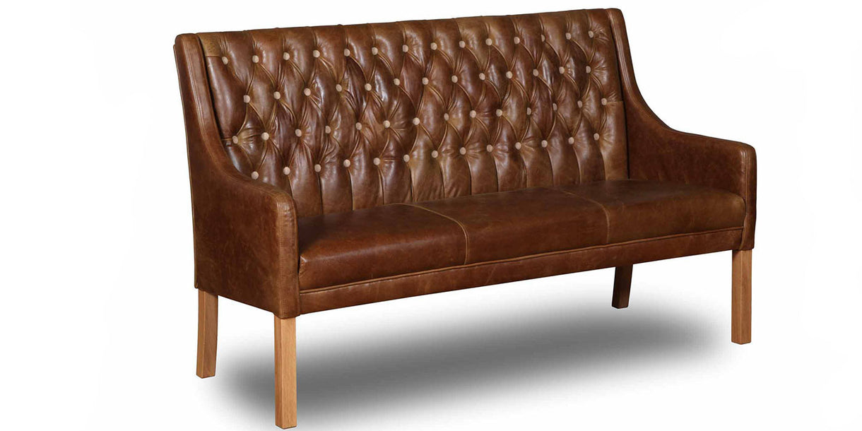 Merveilleux Morton Leather Dining Bench