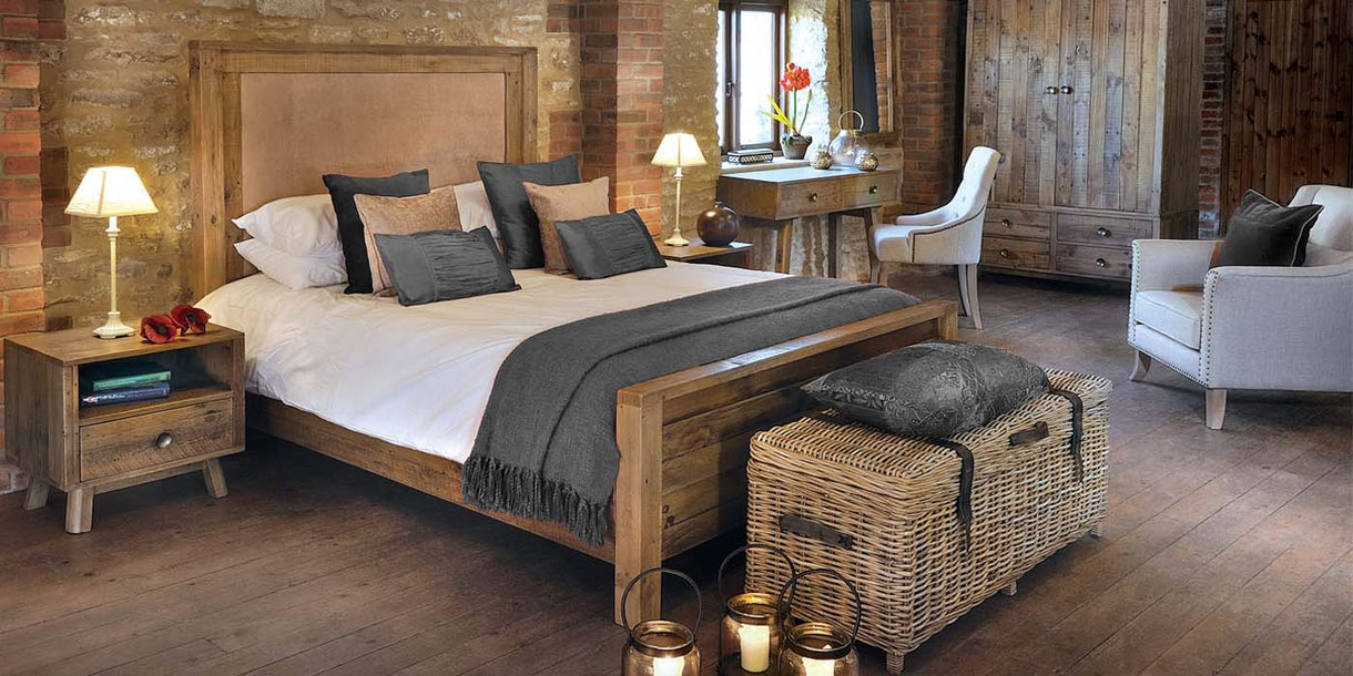 Nilsson Rustica Kingsize Reclaimed Wood Luxury Bed