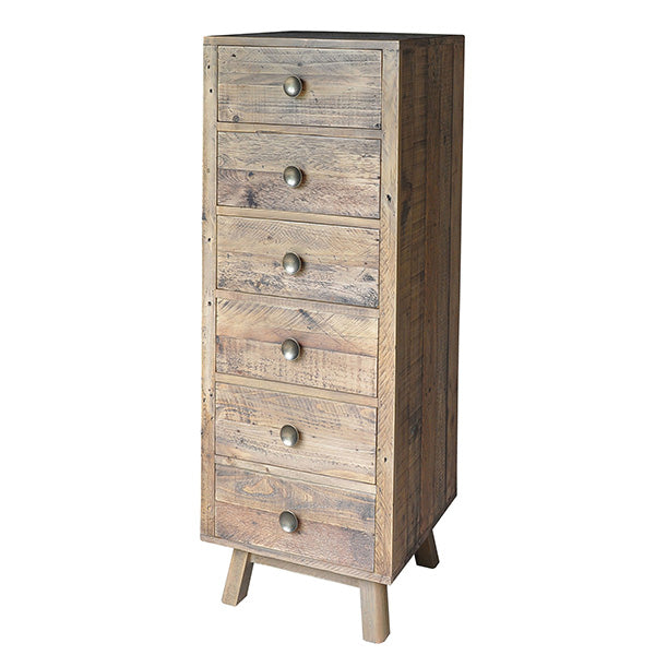 Nilsson Rustica Tall Reclaimed Wood Chest of Drawers