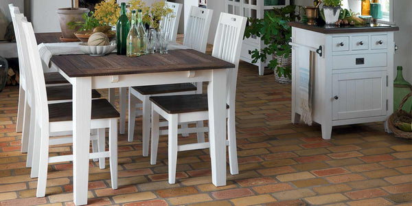 Nottingham Extending Dining Table and White Wooden Dining Chairs