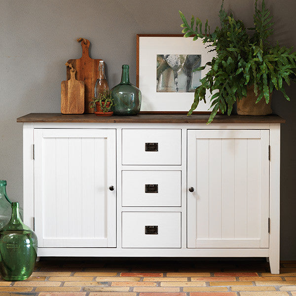 Nottingham Wooden White Painted Sideboard