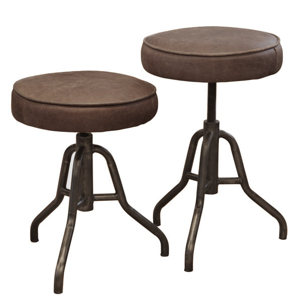 Oakley Wind Up Leather Stool