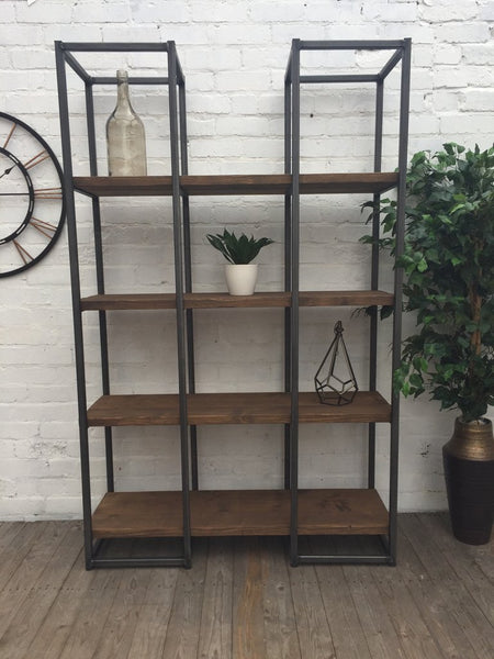 Oldman Industrial Large Reclaimed Wood Bookcase