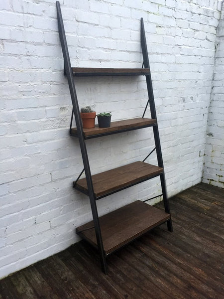 Oldman Leaning Industrial Reclaimed Wood Bookcase