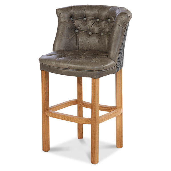 parker harris tweed and leather bar stool