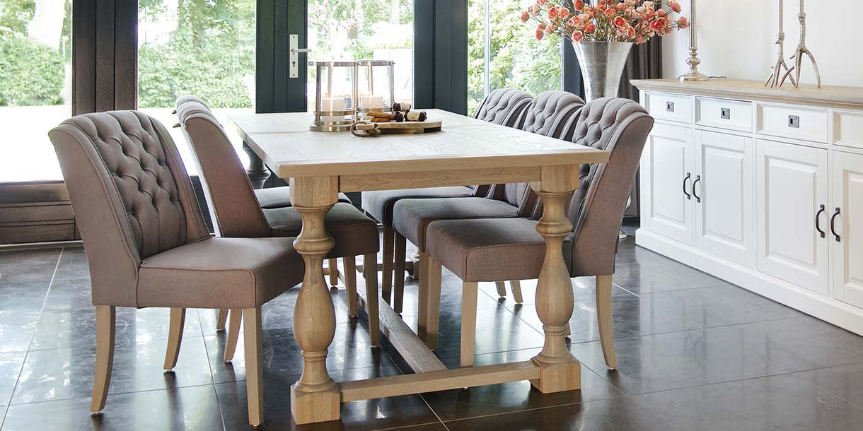 Pimlico Solo Dining Chair including Oak Dining Table