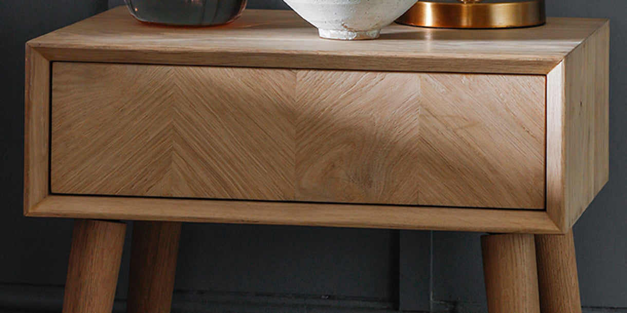 Portobello Oak Bedside Table
