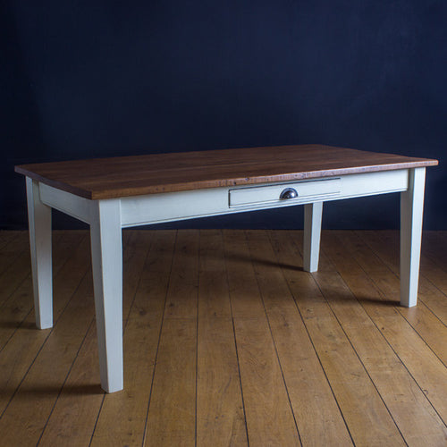 One Drawer Provence Reclaimed Wood Dining Table