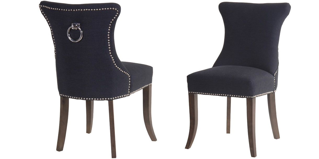 Radley Upholstered Dining Chairs With Back Ring