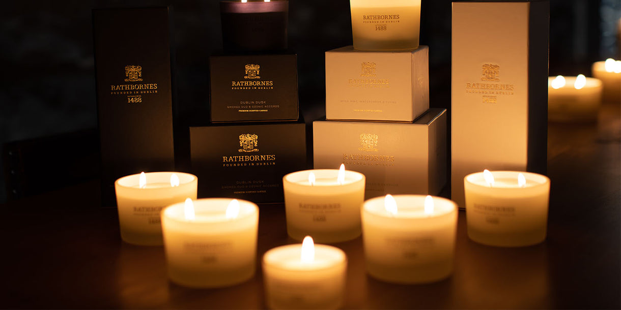 Round Scented Candles and Boxes of Diffusers