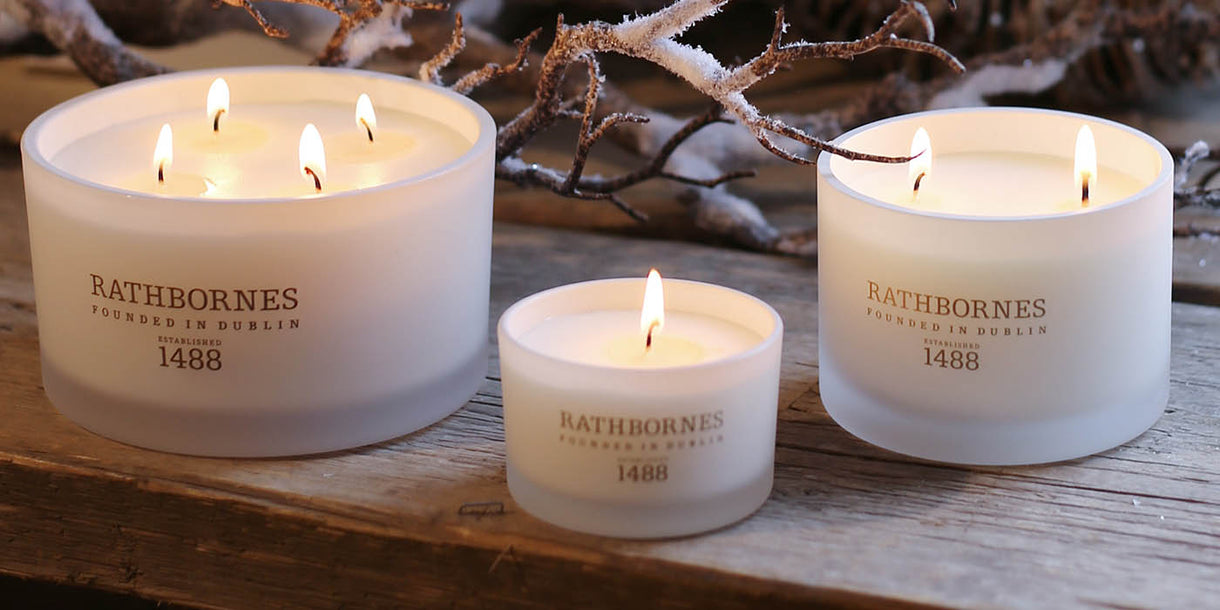 Rathborned White Pepper and Honeysuckle Classic Candles