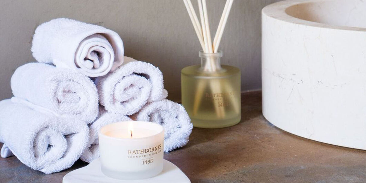 Rathbornes Dublin Tea Rose Reed Diffuser and Candle