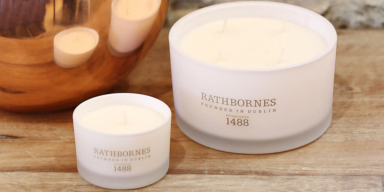 Rathbornes Dublin Tea Rose Luxury Large Candle