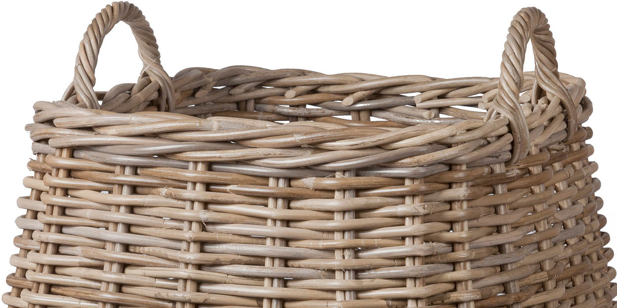 Rattan Log Basket Cutout