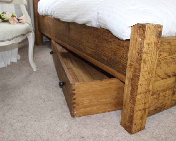 Reclaimed Wood Under Bed Storage Drawer