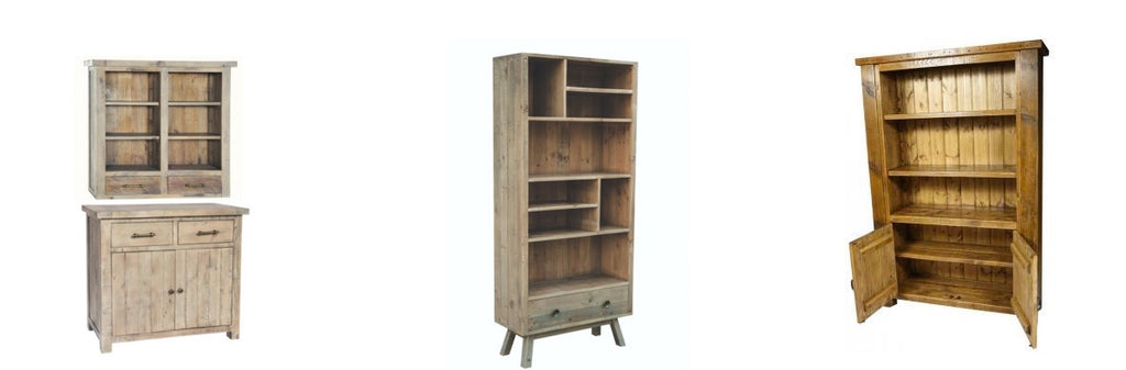 Reclaimed Wooden Bookcases