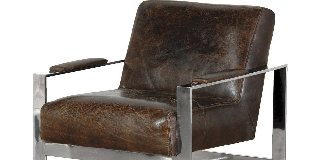 RetroSit Brown Leather Armchair