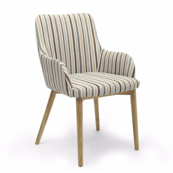RetroSit Duck Egg Blue Stripe Sidcup Dining Chair