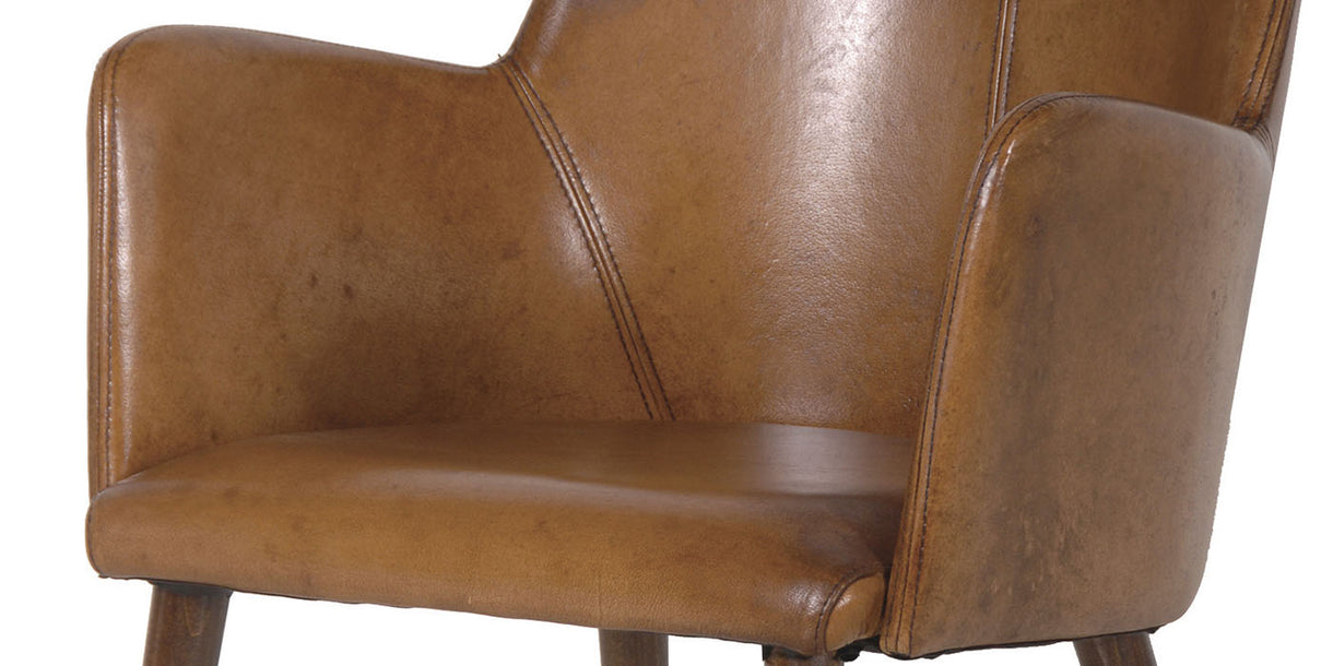 RetroSit Italian Buffalo Leather Chair close up