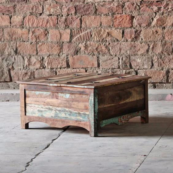 Riya Reclaimed Wood Trunk Coffee Table