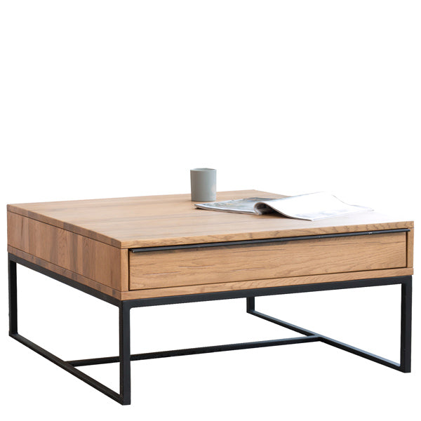 Rocoo Industrial Oak Coffee Table