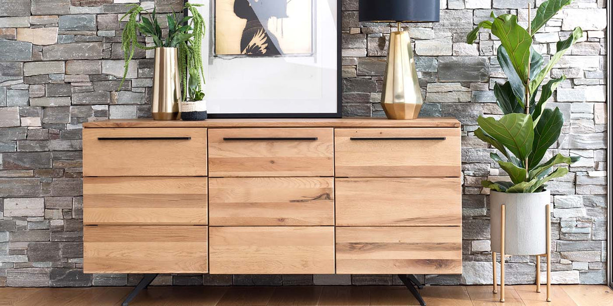 Rocco Industrial Oak Sideboard