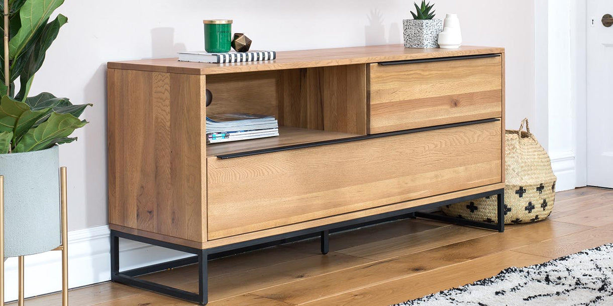 Rocco Industrial Oak TV Unit