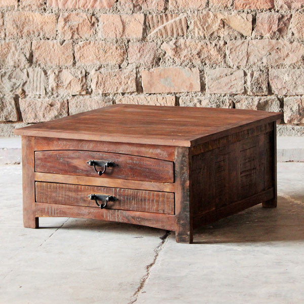 Rustica Drawer Reclaimed Wood Coffee Table