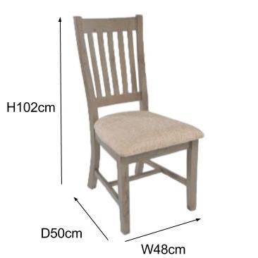 Saltash Reclaimed Wood Dining Chair measurements
