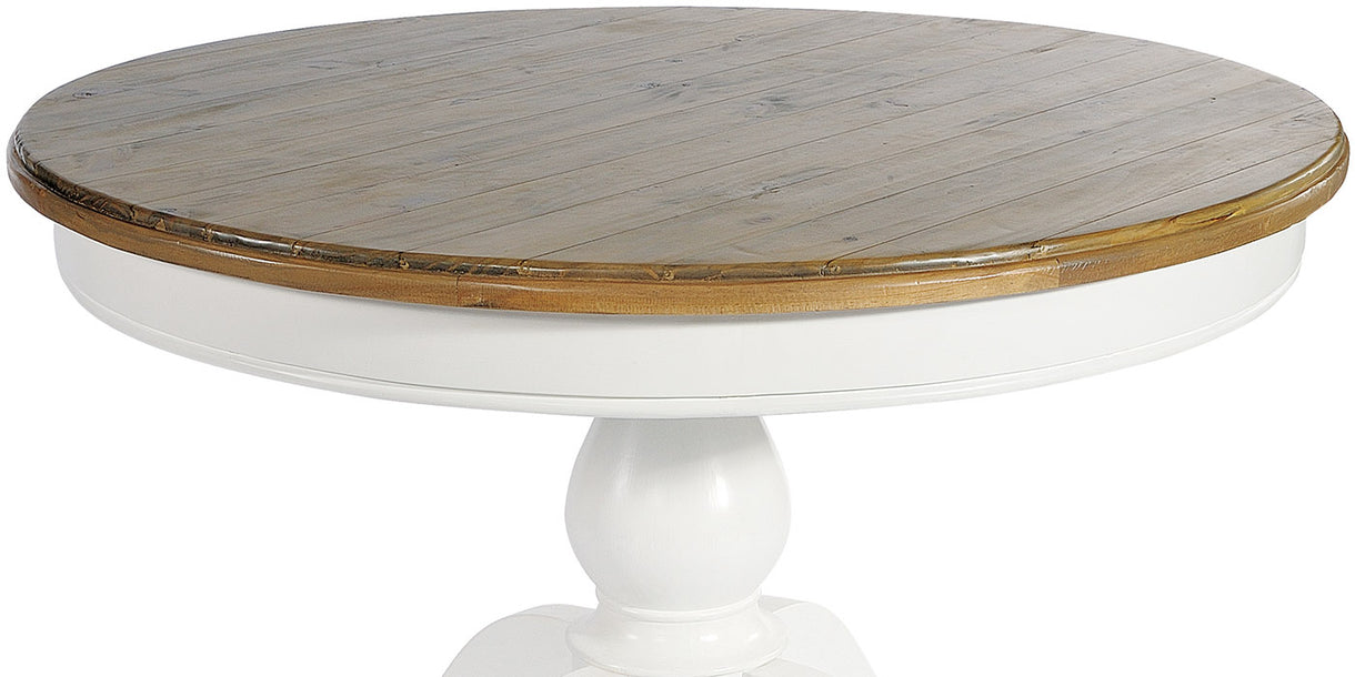 Savannah Reclaimed Wood Round Dining Table Top
