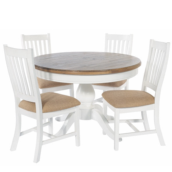 Savannah Reclaimed Wood Round Dining Table