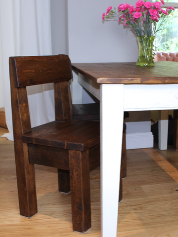 Bespoke made to measure reclaimed wood dining furniture