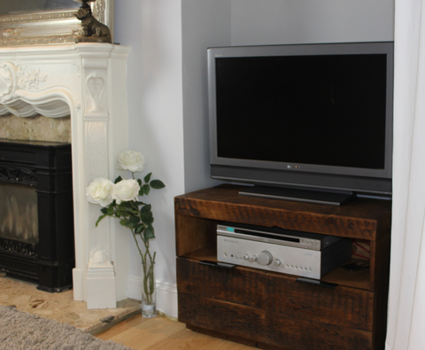 Vardo Made to measure TV Cabinet in reclaimed wood