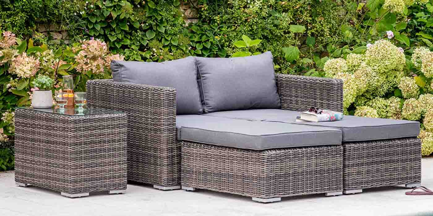 Selborne Double Rattan Lounger Set