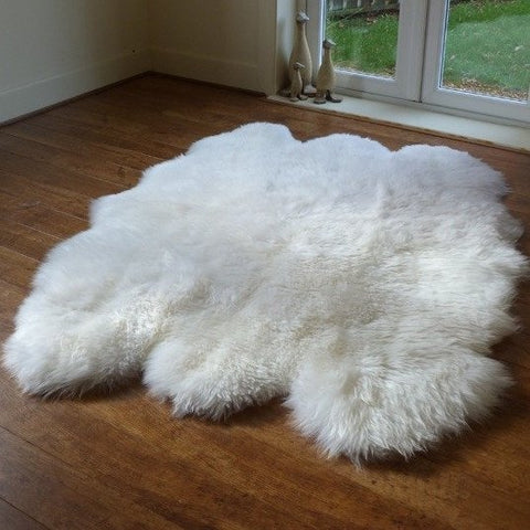 Luxury Sexto White Sheepskin Rug