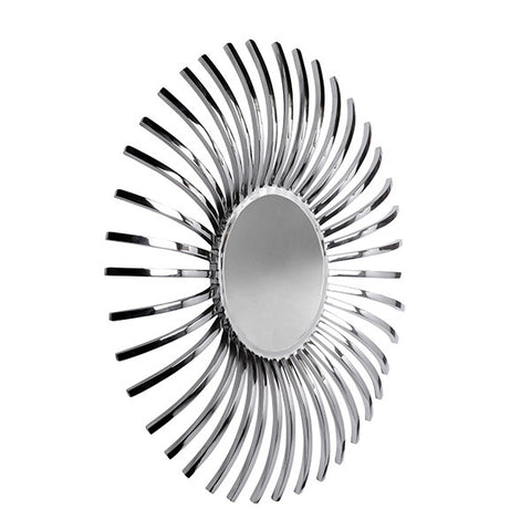Solaris Stainless Steel Round Mirror