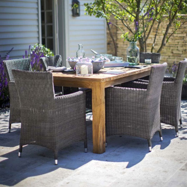 St Mawes Dining Table with Drinks Cooler in Reclaimed Teak