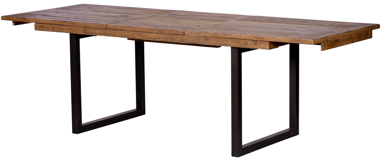 Standford Expanded Reclaimed Wood Dining Table with Steel Legs