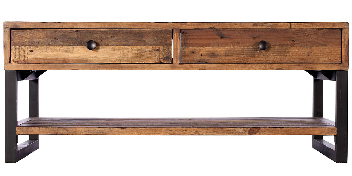 Standford Industrial Reclaimed Wood Coffee Table cut out