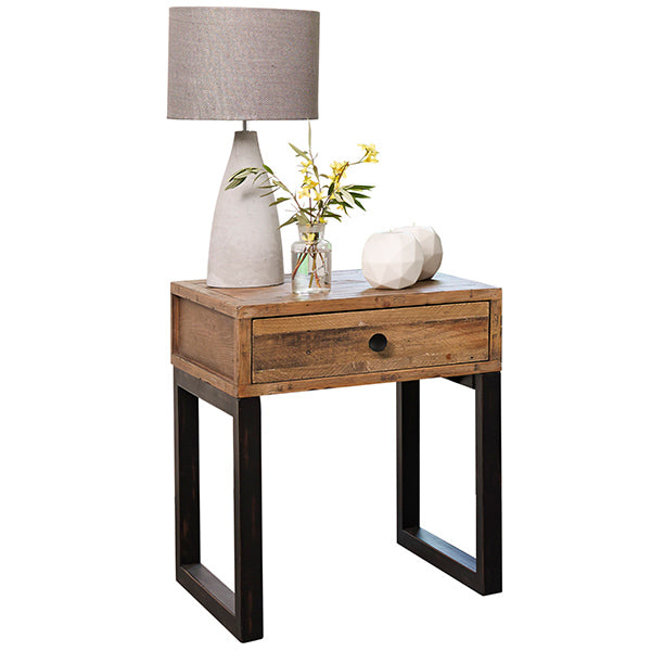 Standford Industrial Reclaimed Wood Bedside