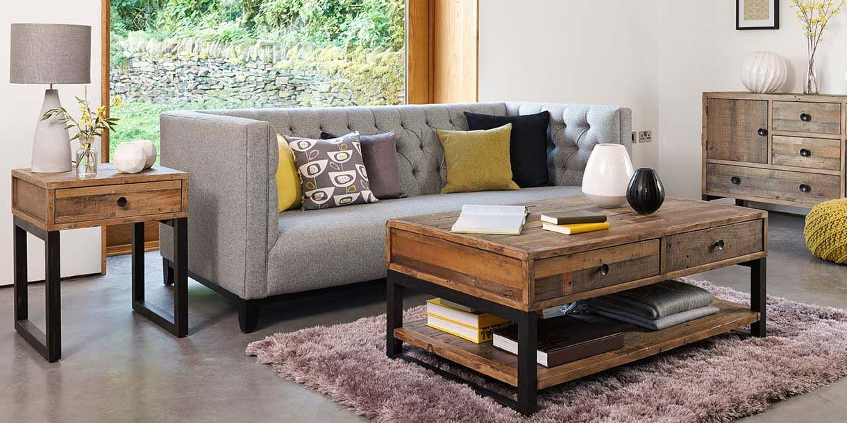 Standford reclaimed Wood Living Room furniture
