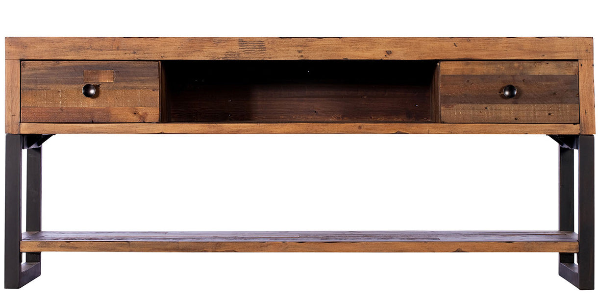 Standford Industrial Reclaimed Wood TV Cabinet cutout