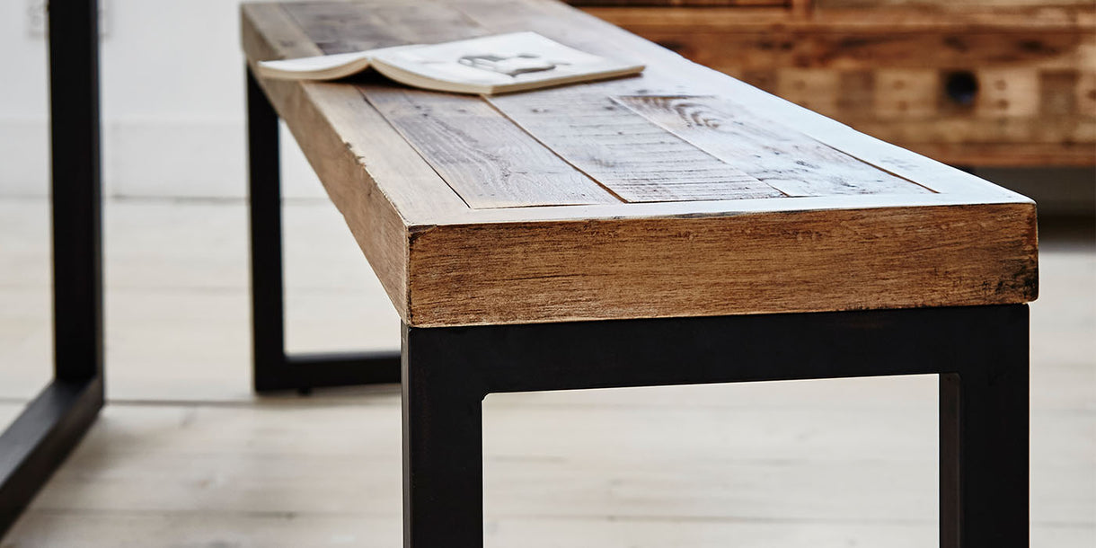 Standford Industrial Reclaimed Wood Bench