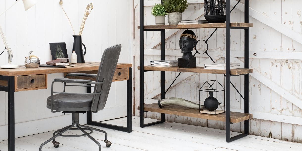 Standford Reclaimed Wood Home Office Furniture