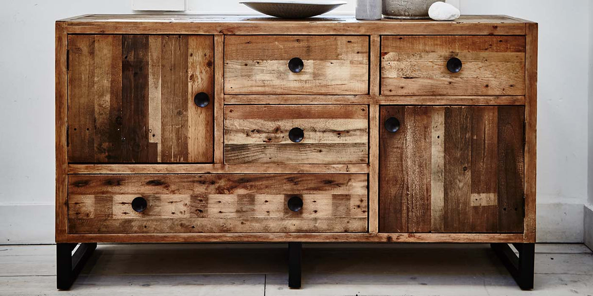 Standford Industrial Reclaimed Wood Large Sideboard