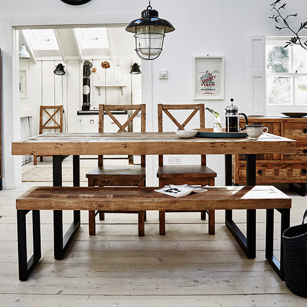 Standford Industrial Reclaimed Wood Dining